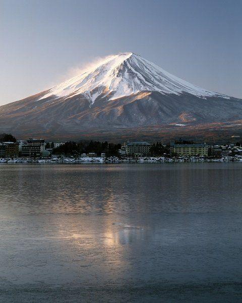 清晨的富士山