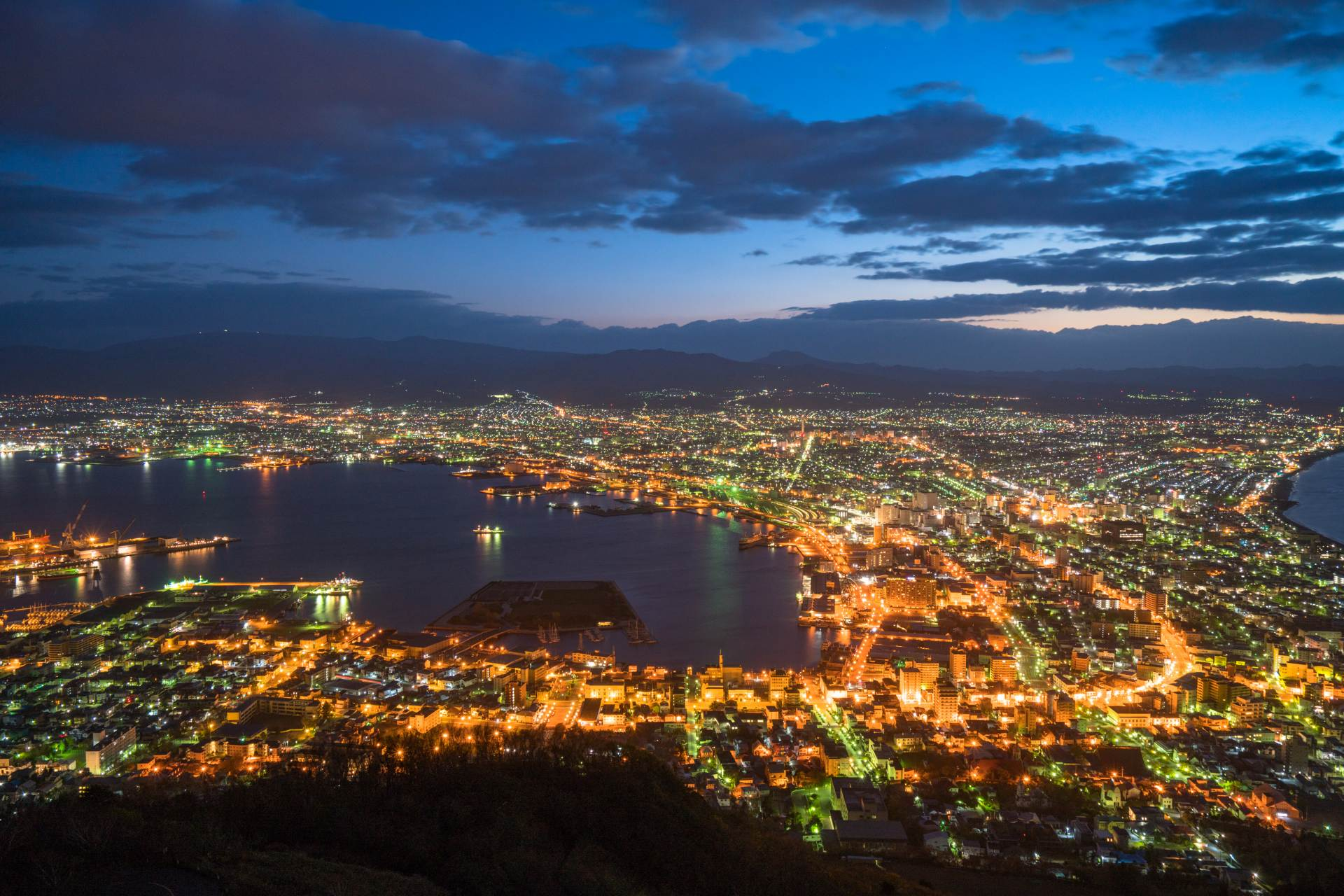 Night view of Hakodate in summer
