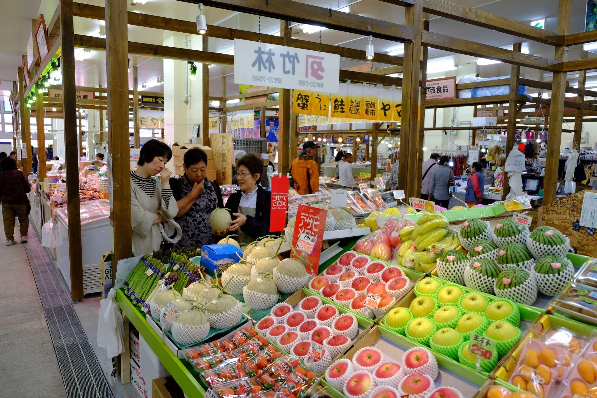 新鮮的水果攤位