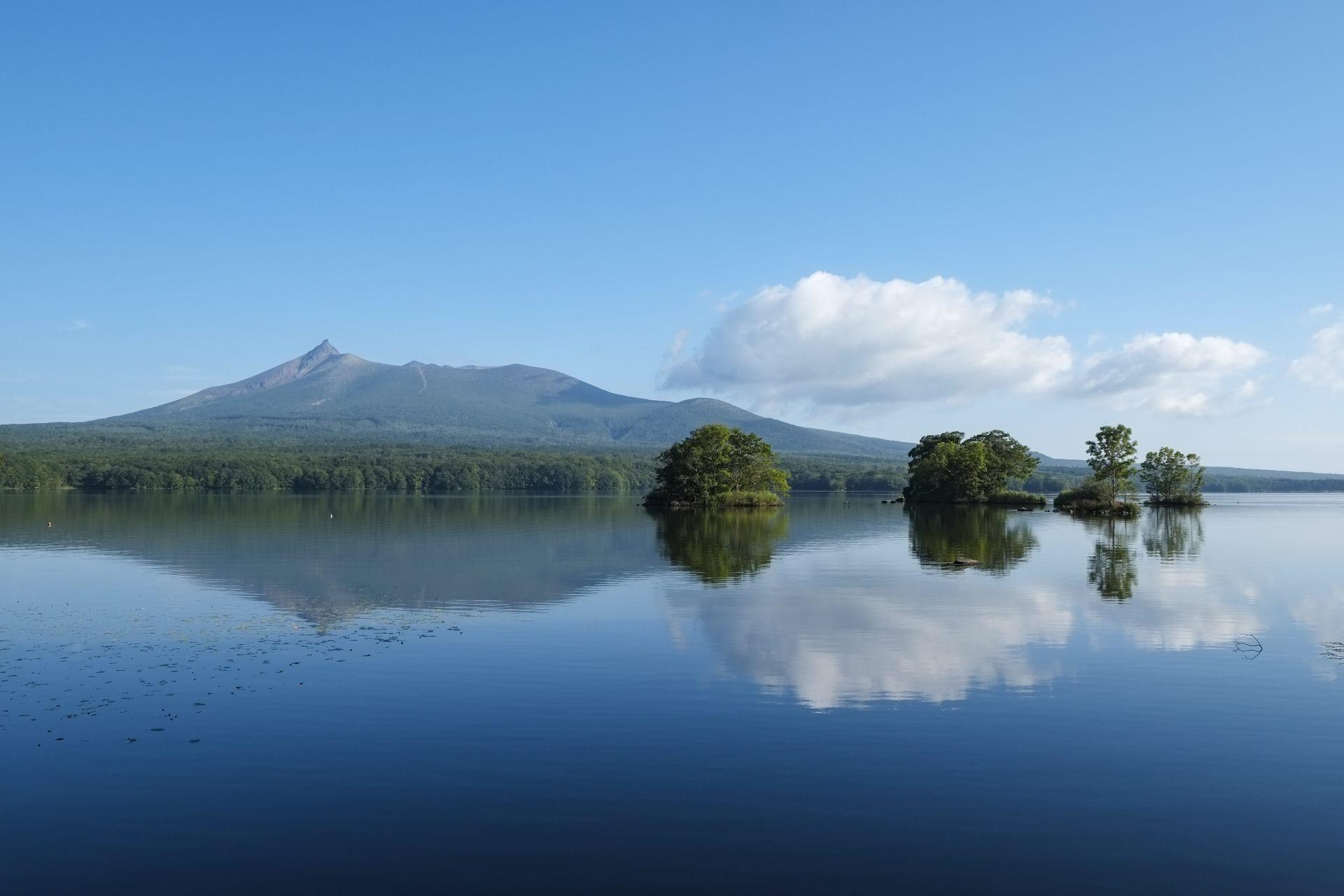 日本新三景:駒岳山與大沼湖