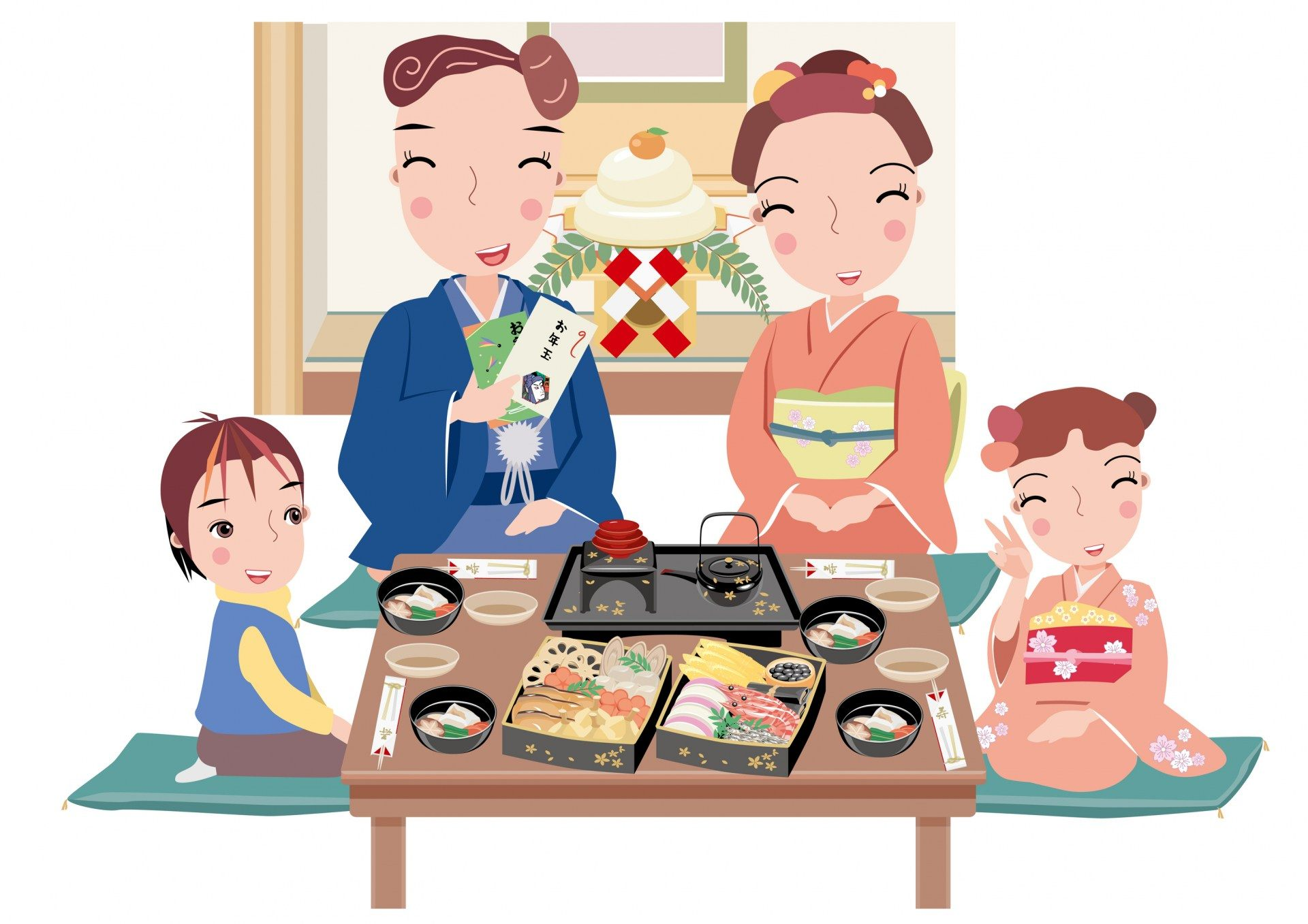 在日本,一家人會圍在桌爐旁邊一同享受的正月料理,御節料理