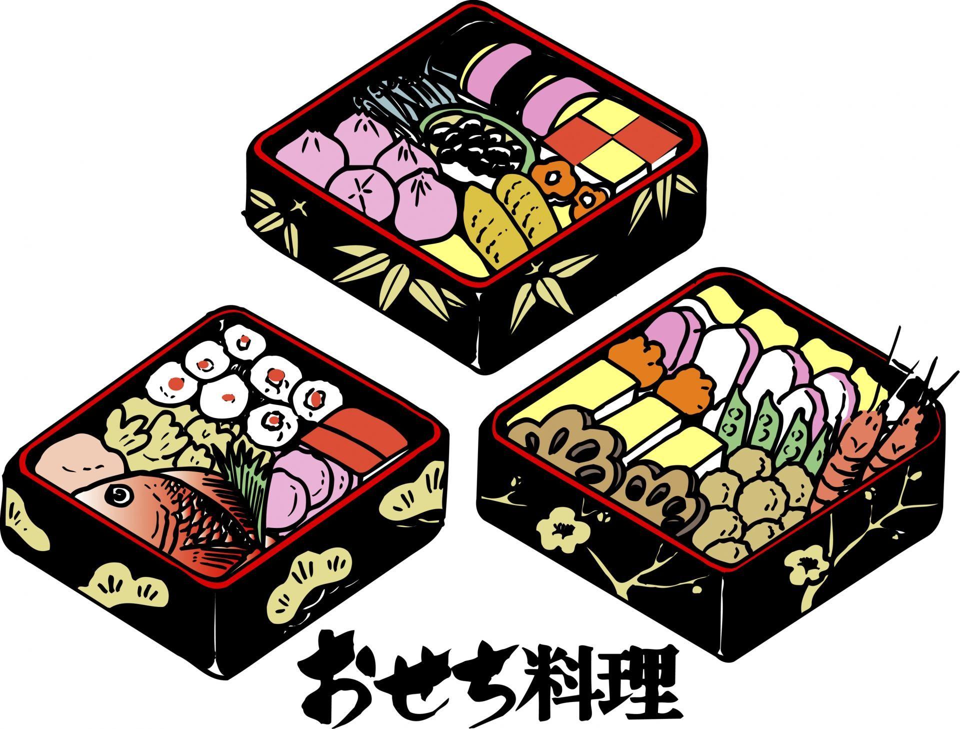 用來裝御節料理的外觀漂亮的漆盒,重箱