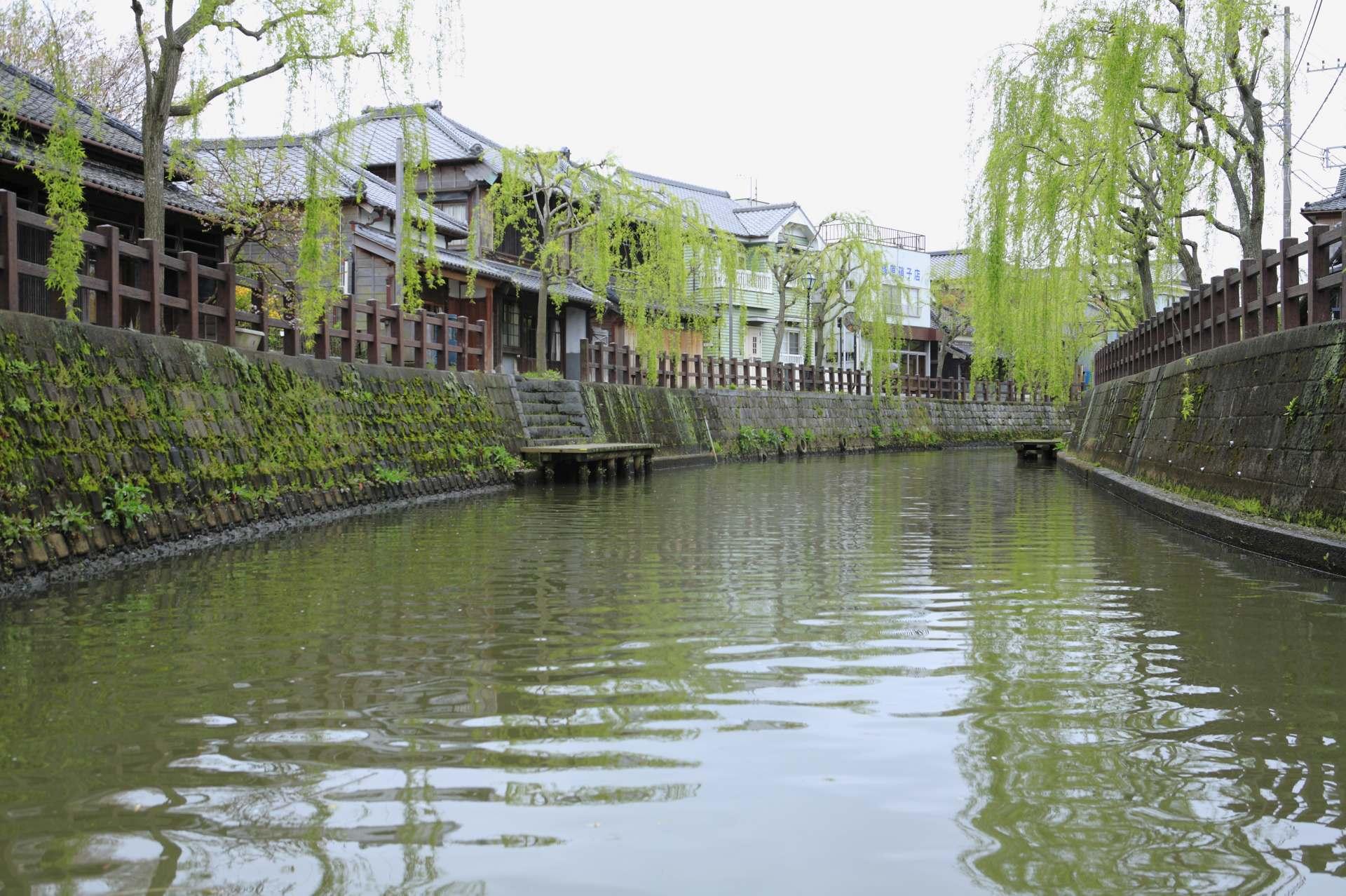 河岸垂柳,綠意盎然的水都佐原
