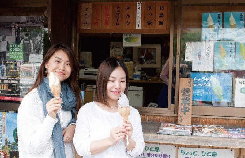 """佐原限定義大利式冰淇淋,""""醬油香味"""""""