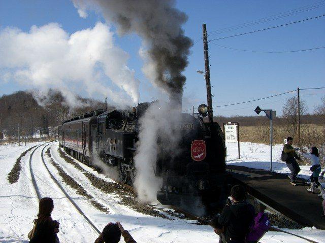 「SL冬季湿原号观光列车」