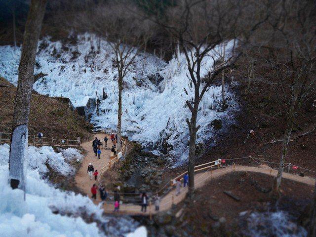 芦久保冰柱的美丽景观