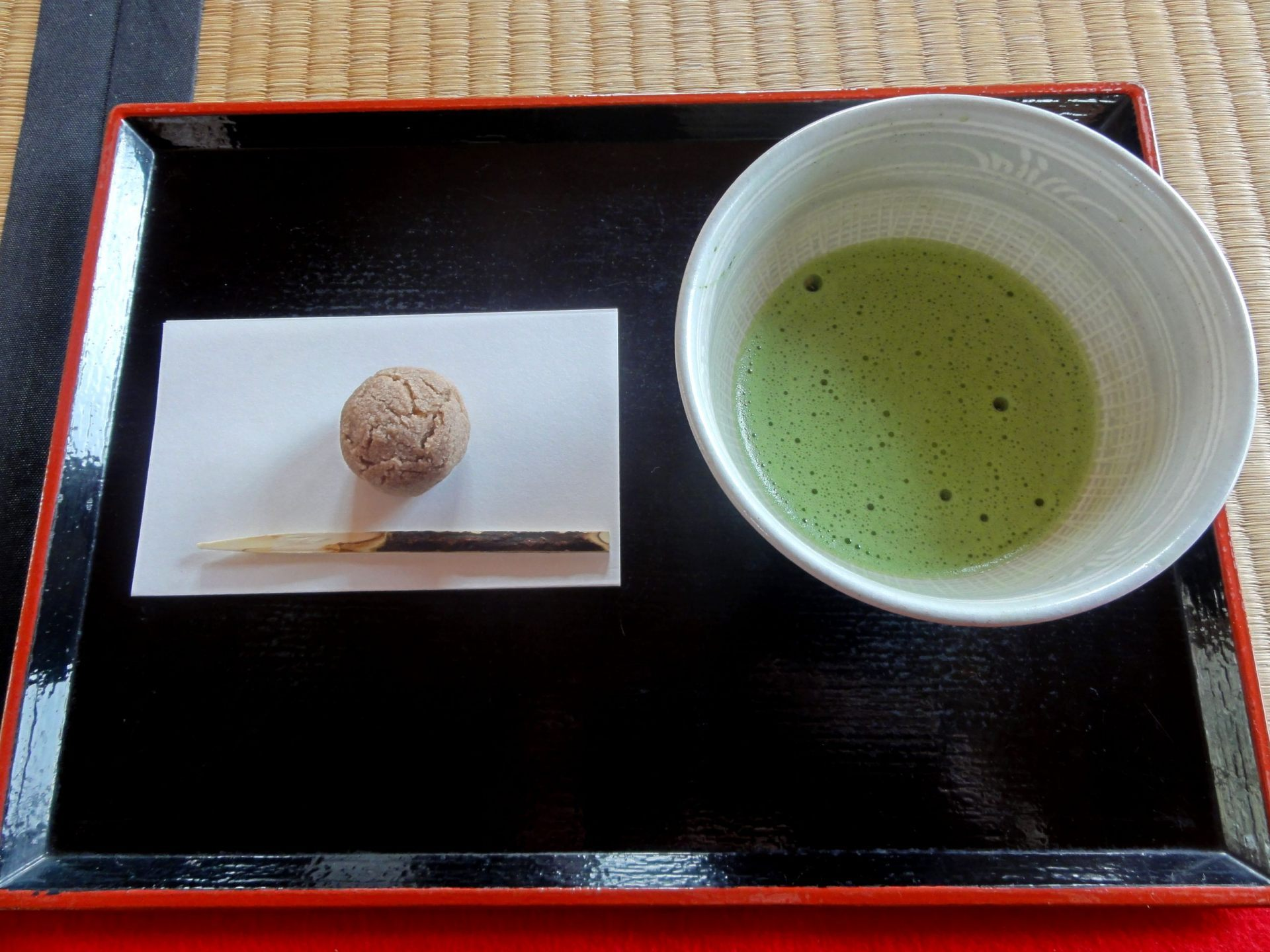 Matcha & Japanese Sweets Set (510 yen)
