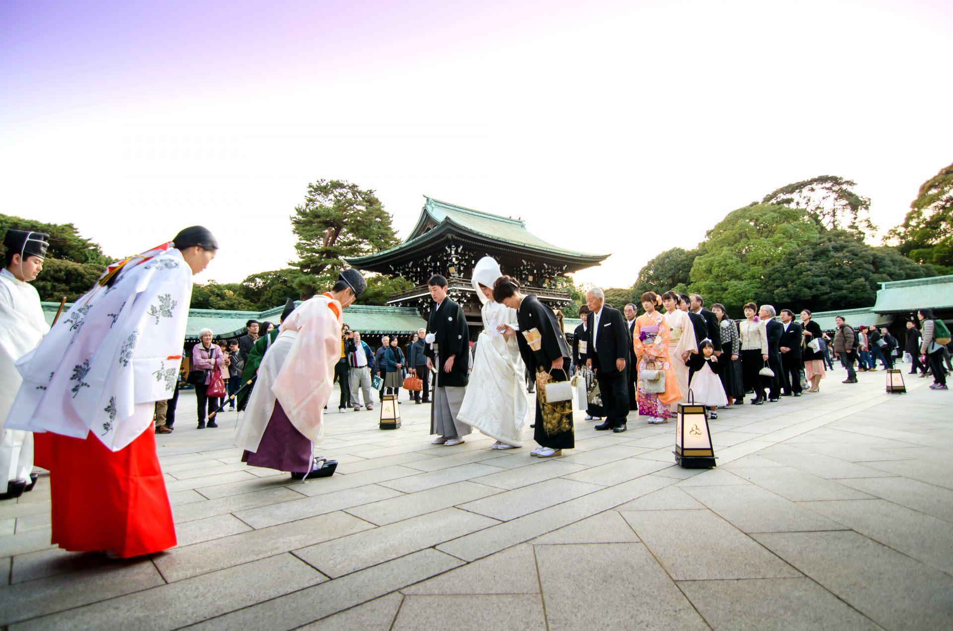 神前结婚式之首选的明治神宫