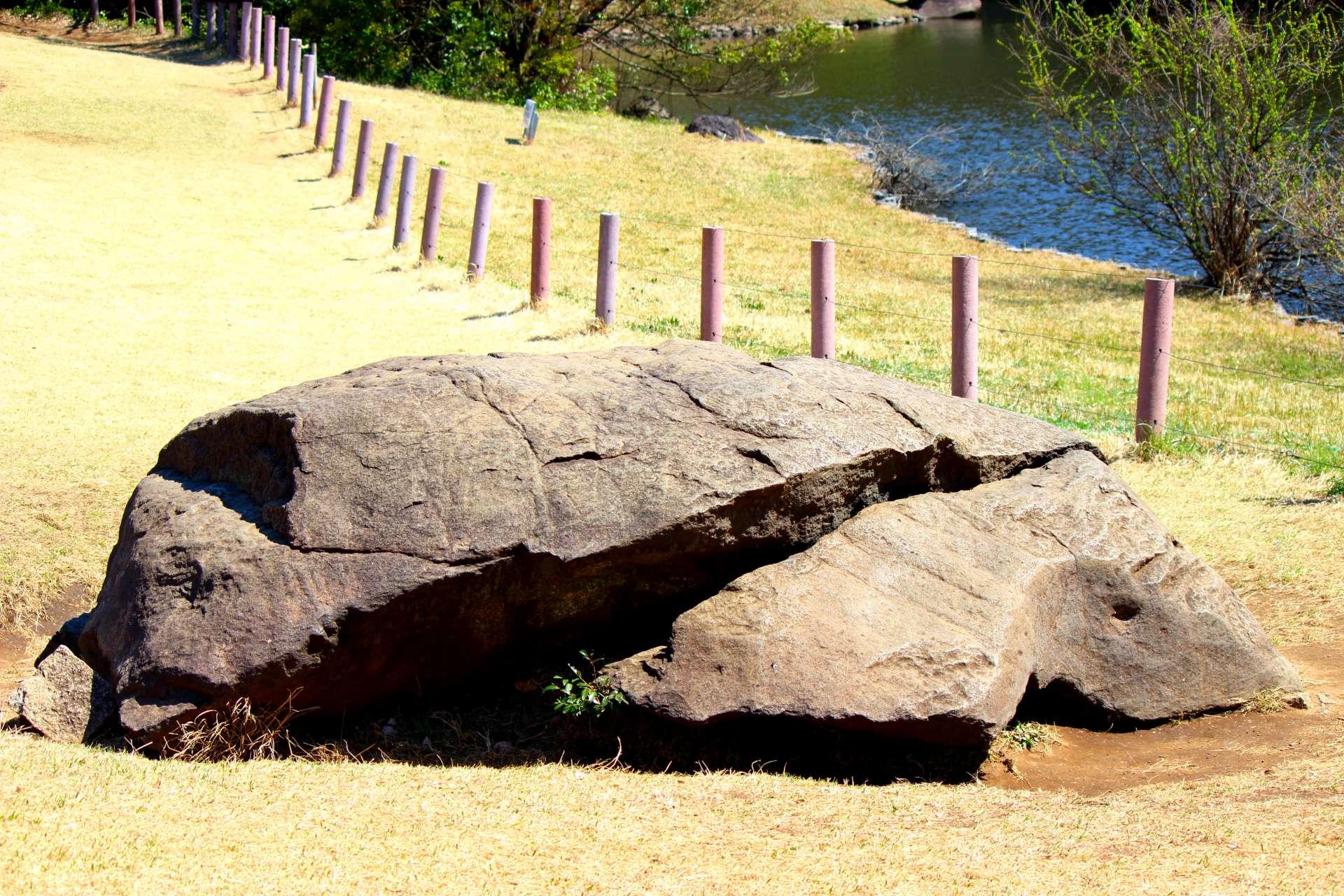 北池 龟石