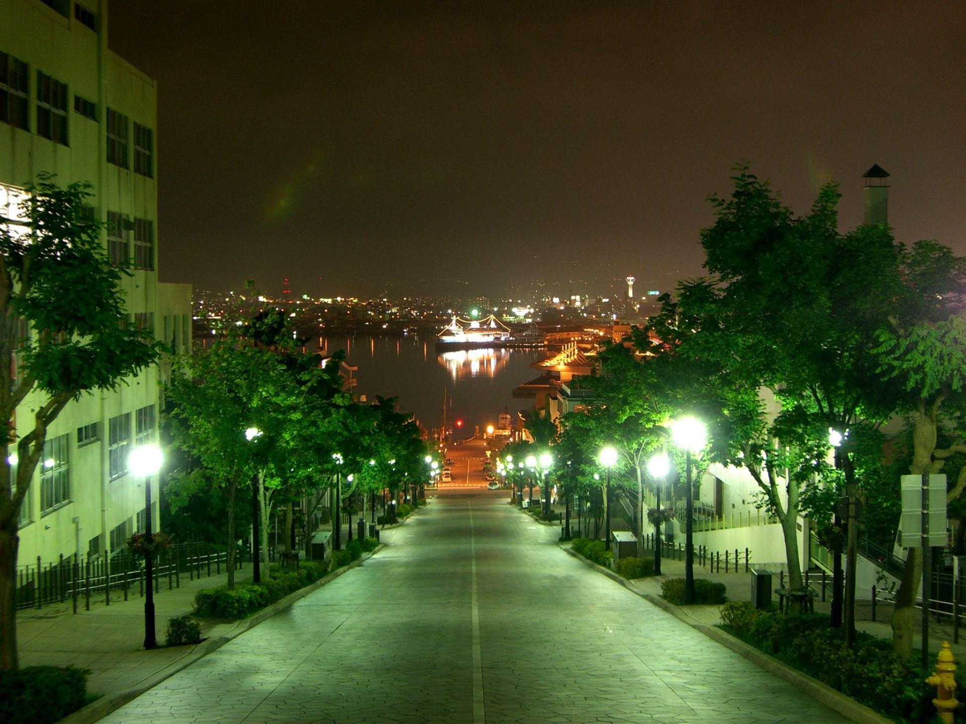 八幡坡道夜景