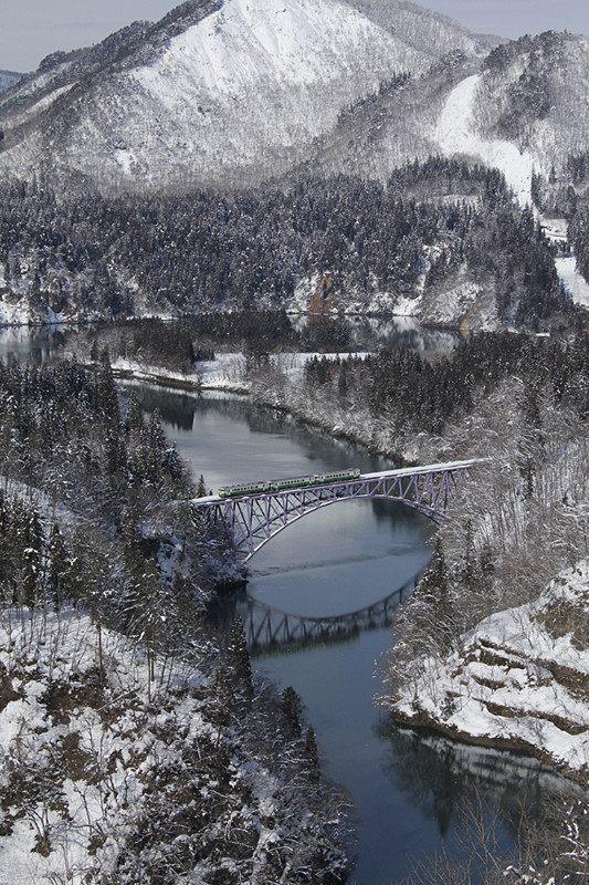 风景与电车的绝佳结合・冬季