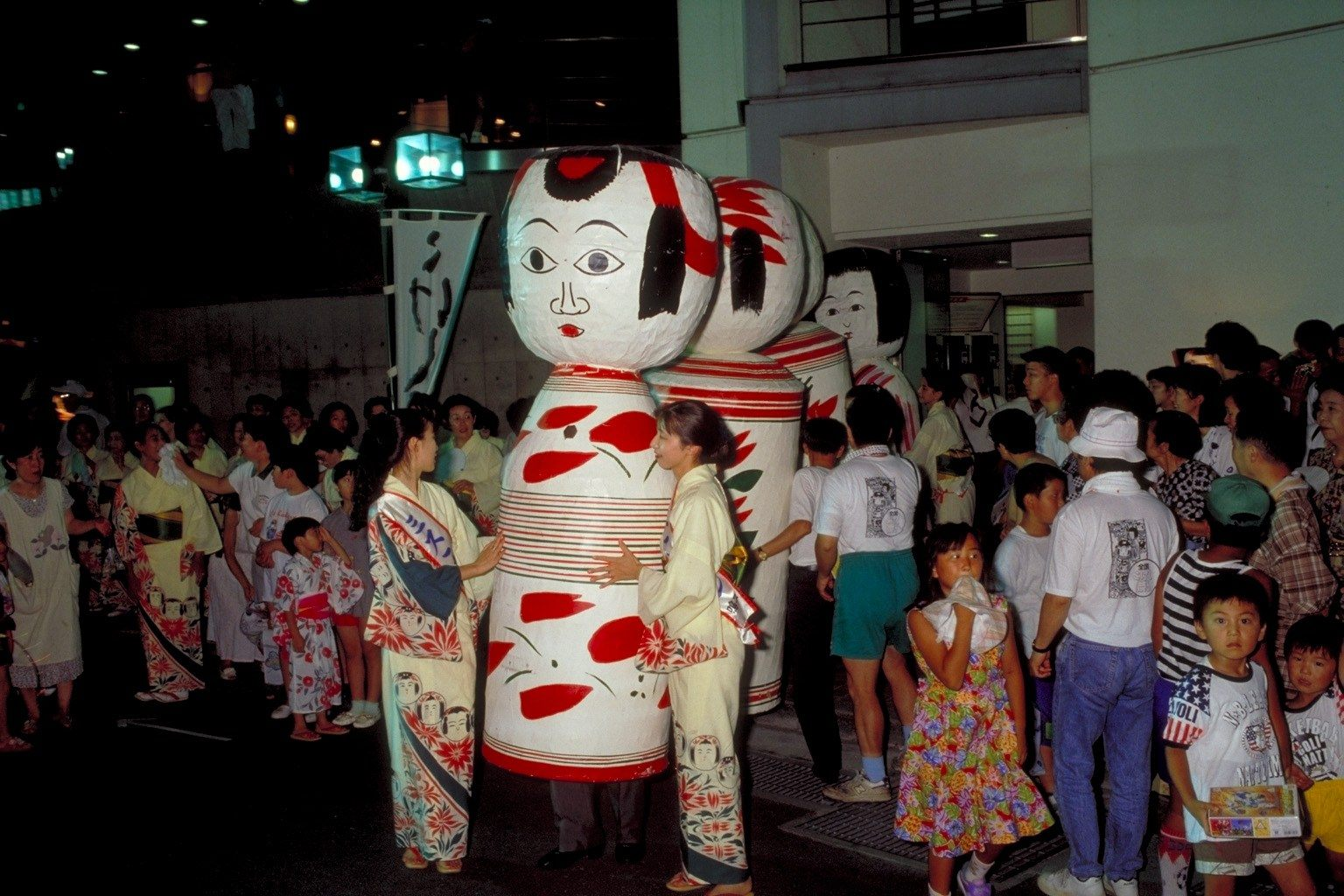 Parade at the National Kokeshi Festival