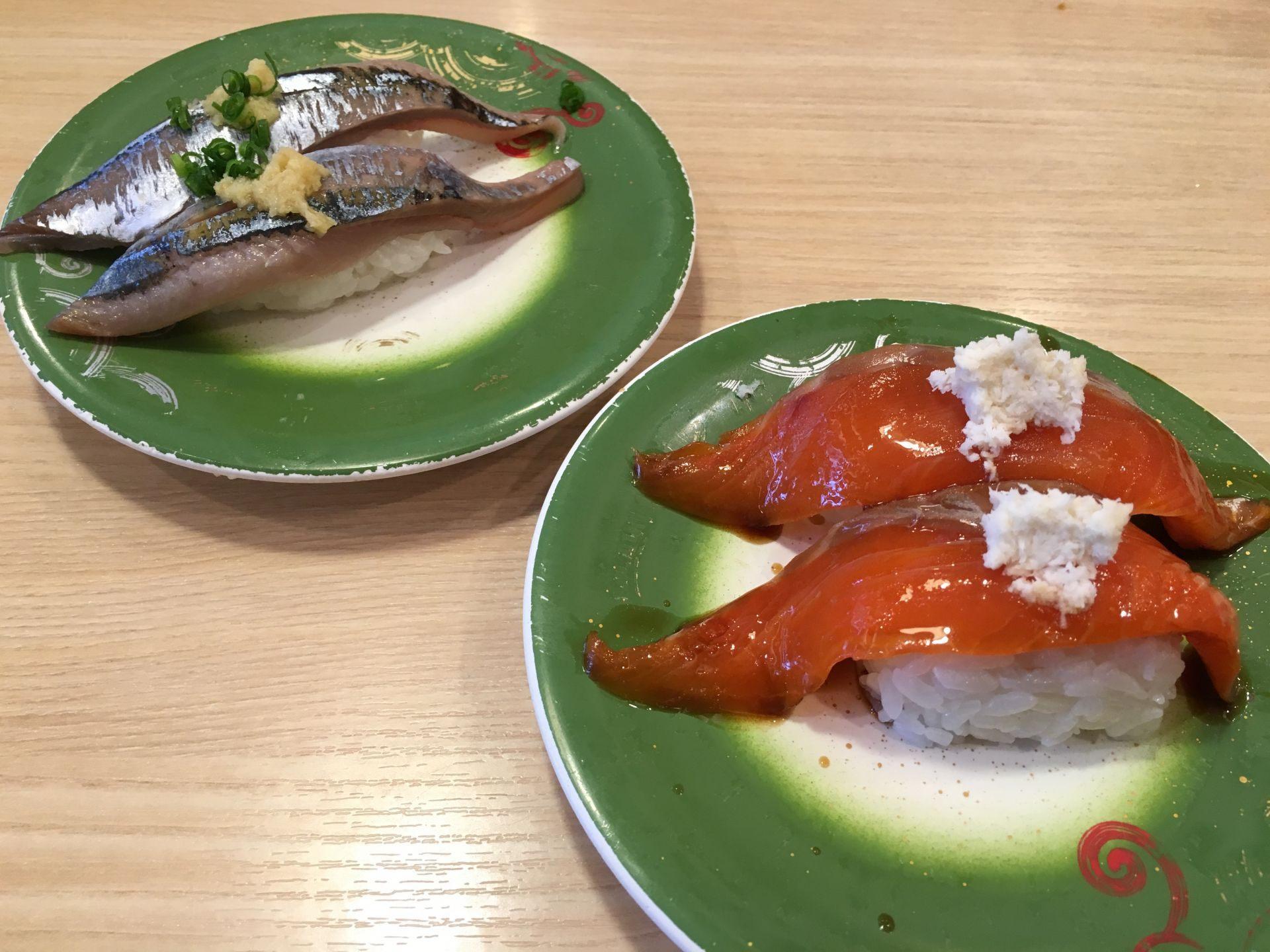秋刀魚(190日圓) / 鮭魚(190日圓)