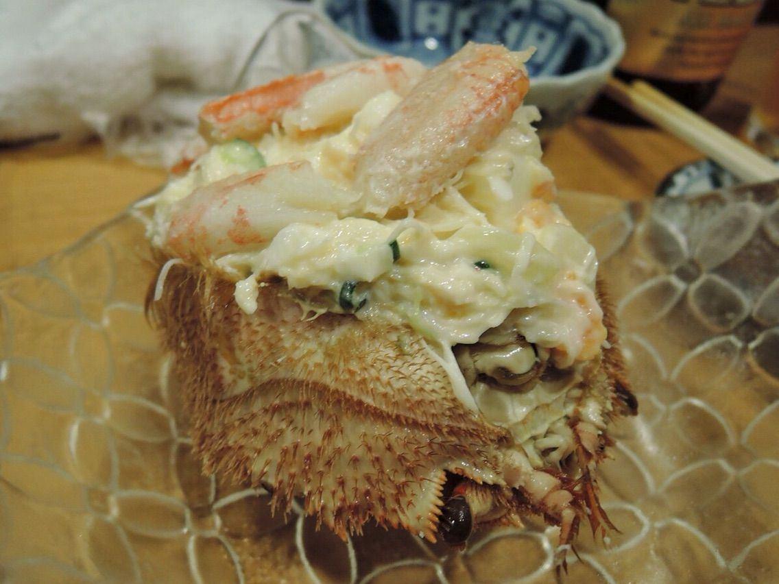 蟹肉份量十足的毛蟹沙拉