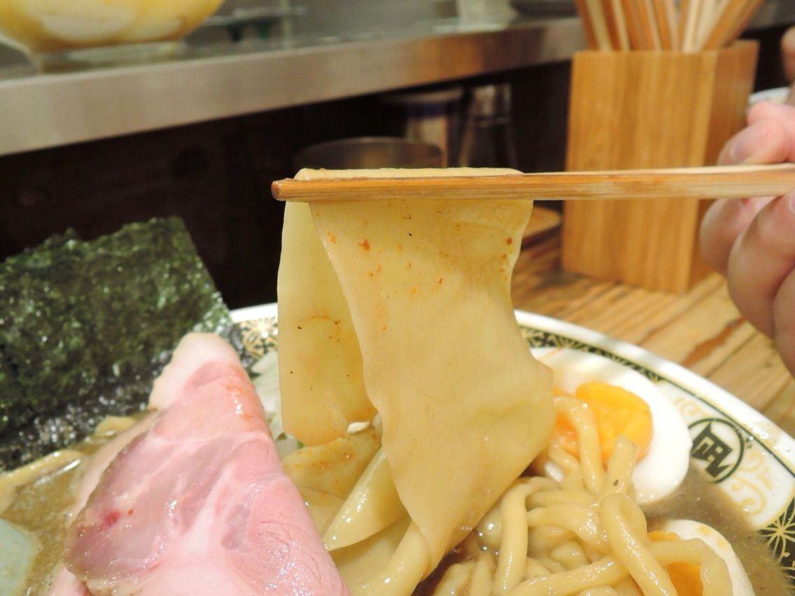 在『凪』才能吃得到的「いったん麺 (也是生面的面皮)」