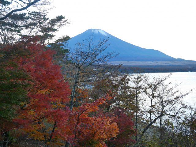 傍晚的富士山