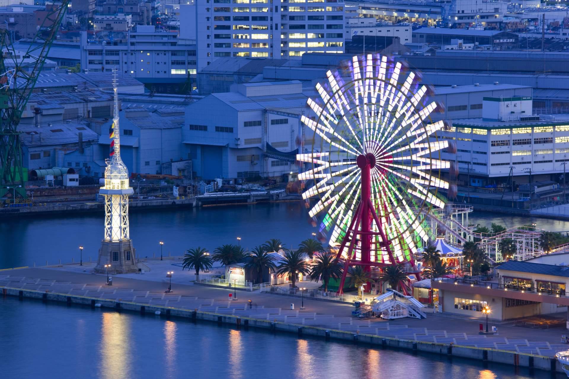 """Kobe Harborland"" gets even better at night."