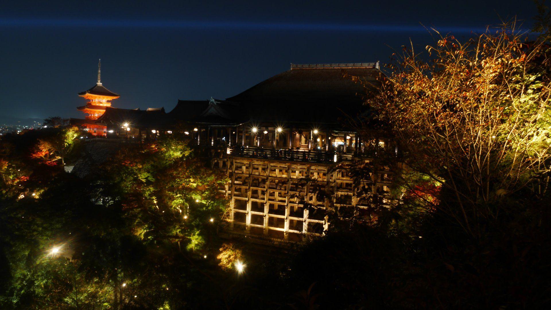 京都紅葉 清水寺 特別點燈