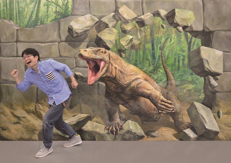 不幸碰見科摩多巨蜥的藝術