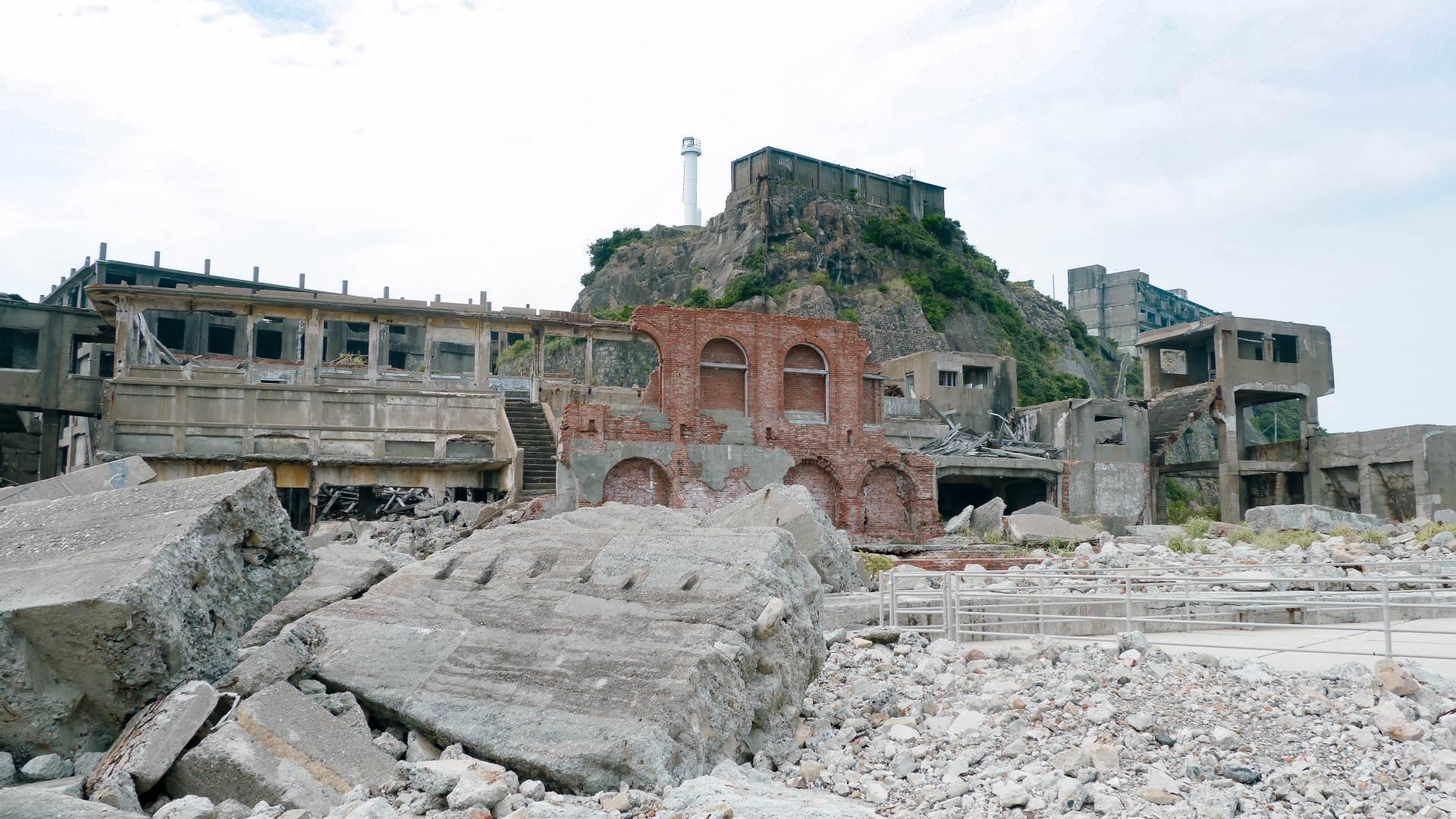 軍艦島、端島、廢墟