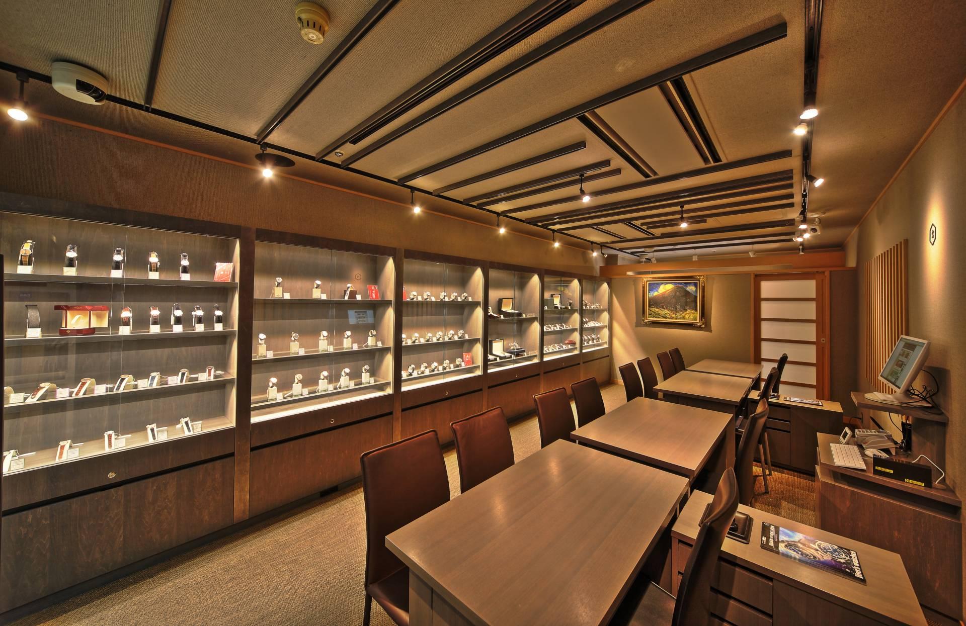 陳列著最高級手錶的別館