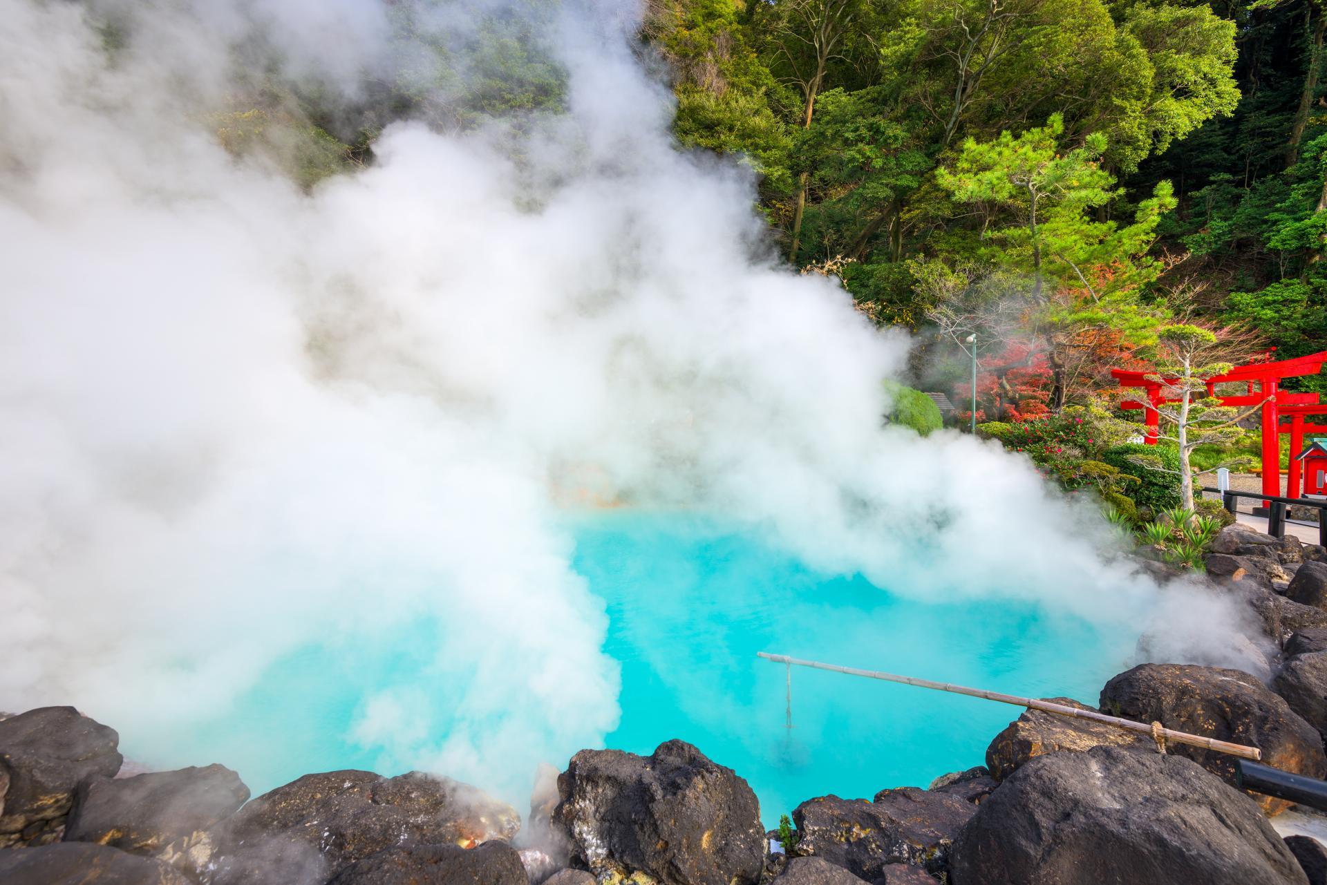 Hells of Beppu, Cobalt Blue, Steam