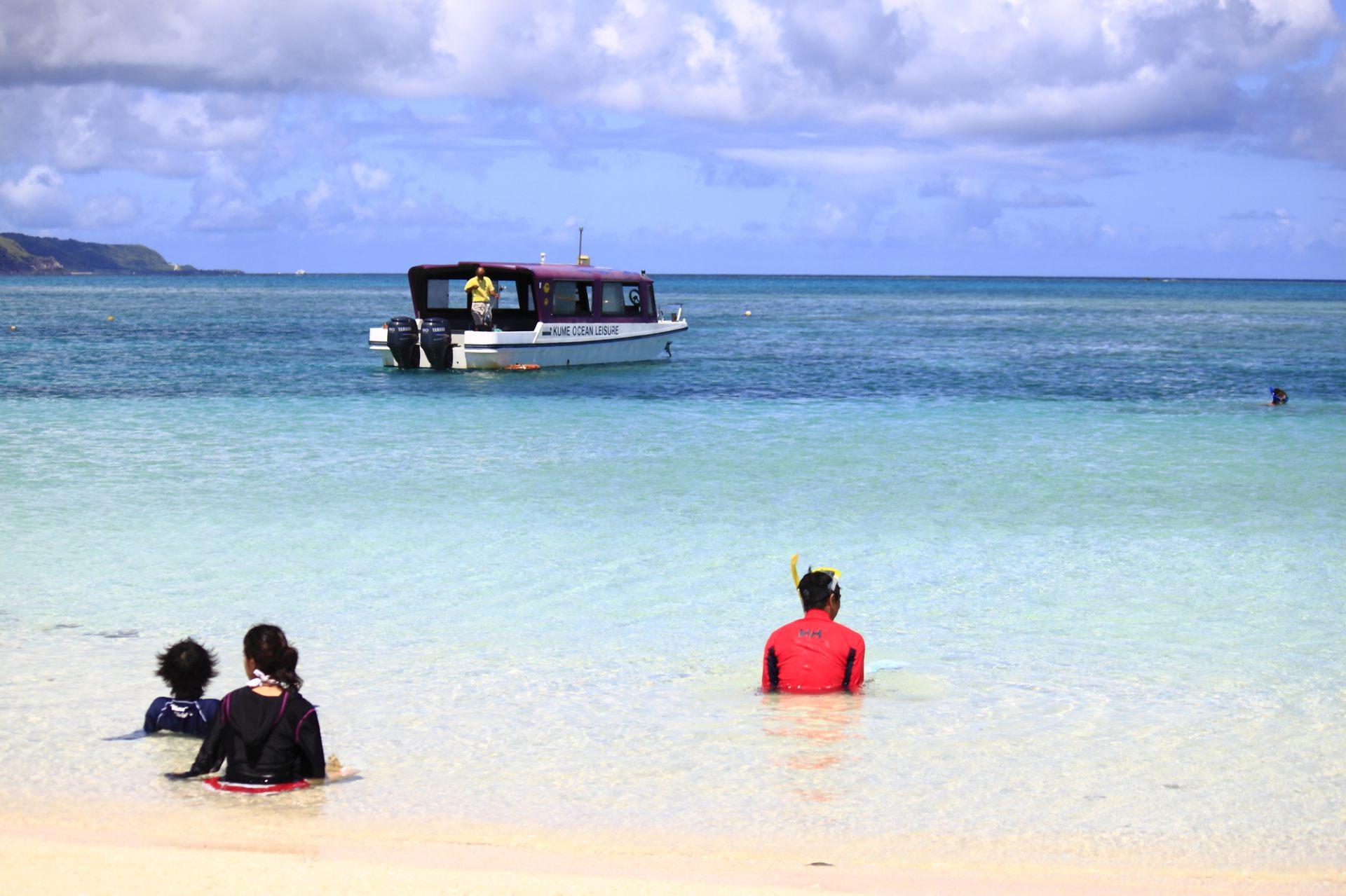 旅遊船、Hateno海灘、海洋