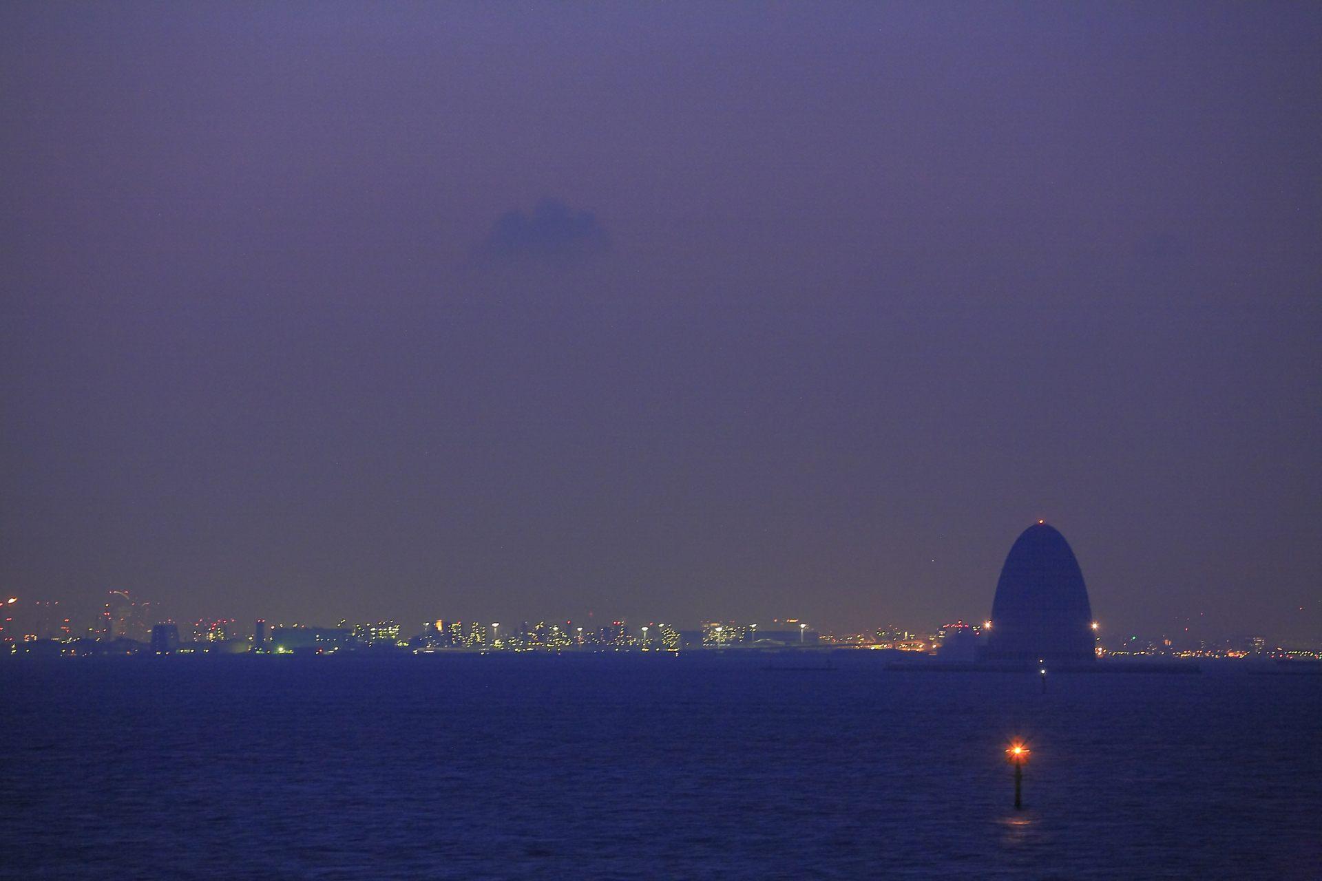 海螢火蟲、夜景
