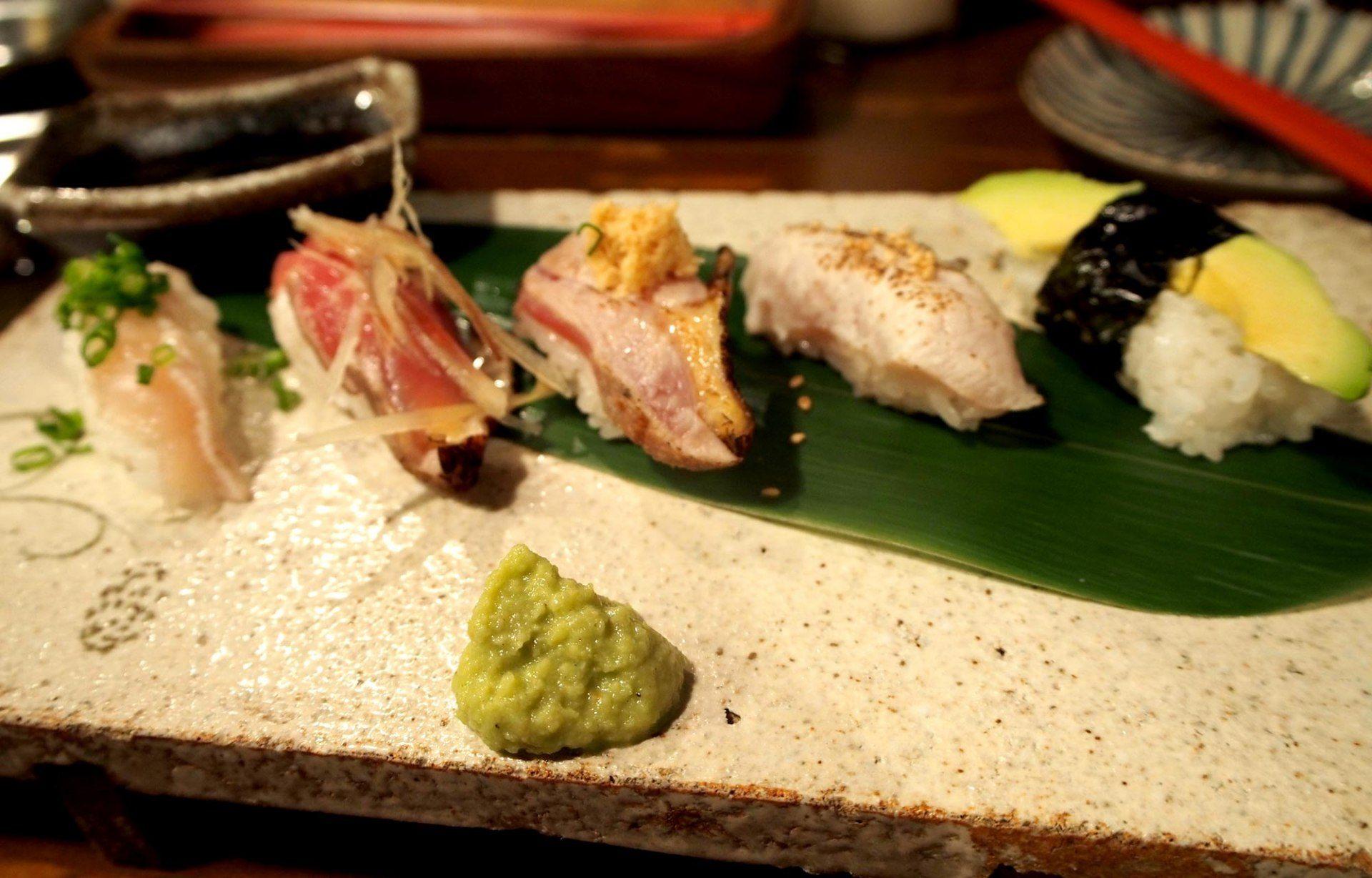 炙燒雞肉握壽司    時價