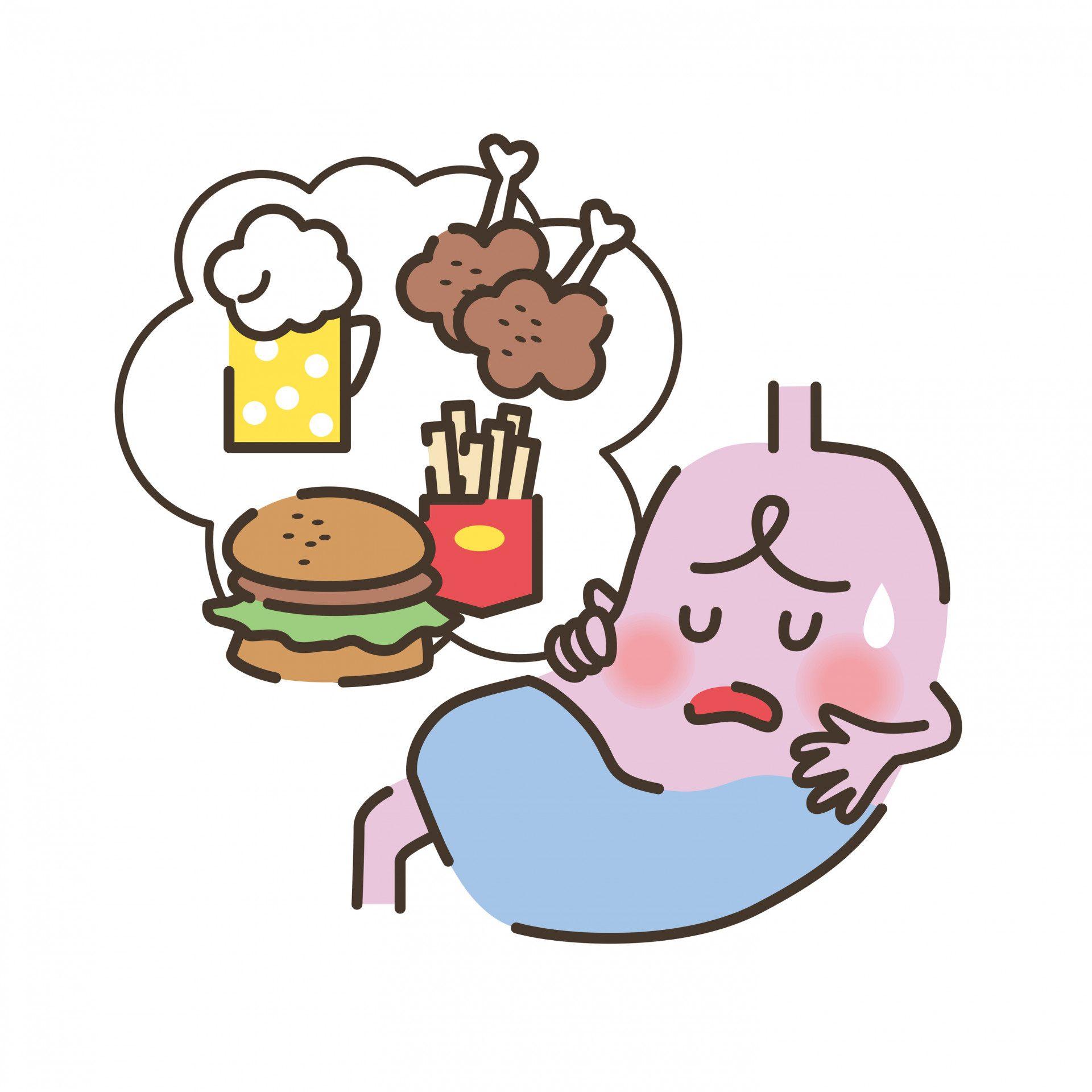 一吃下去油膩的東西胃就會不舒服