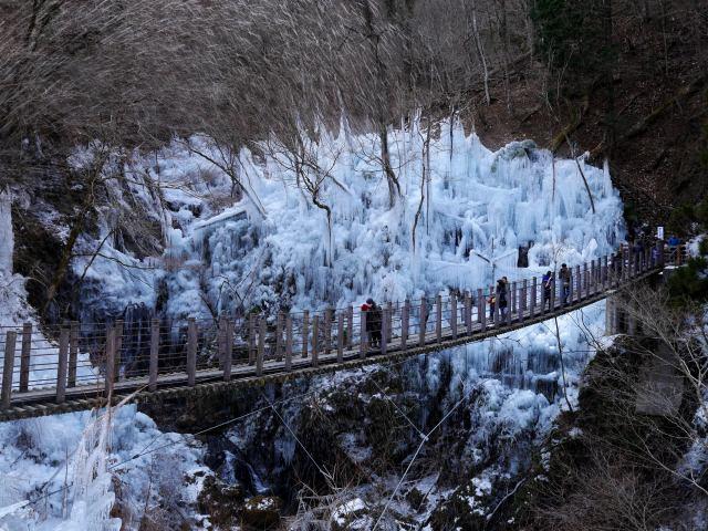 """秩父冬季的艺术作品,""""三大冰柱巡礼""""第三篇!小鹿野【尾之内冰柱】"""