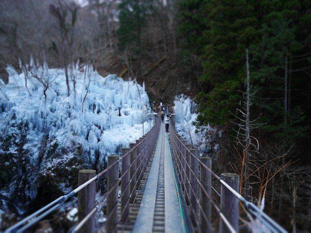 跨越溪谷的吊桥