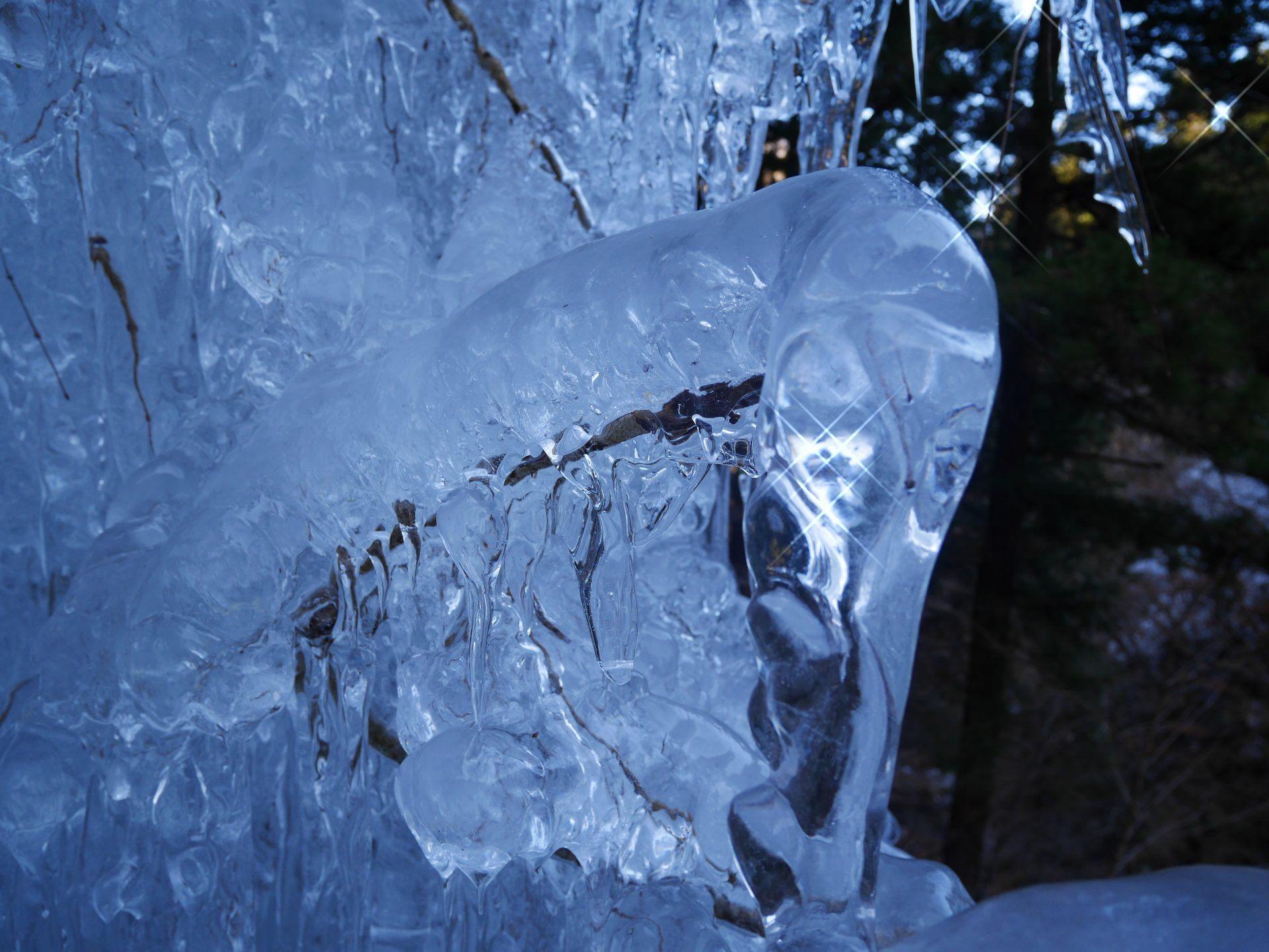 日光让冰柱闪耀迷人