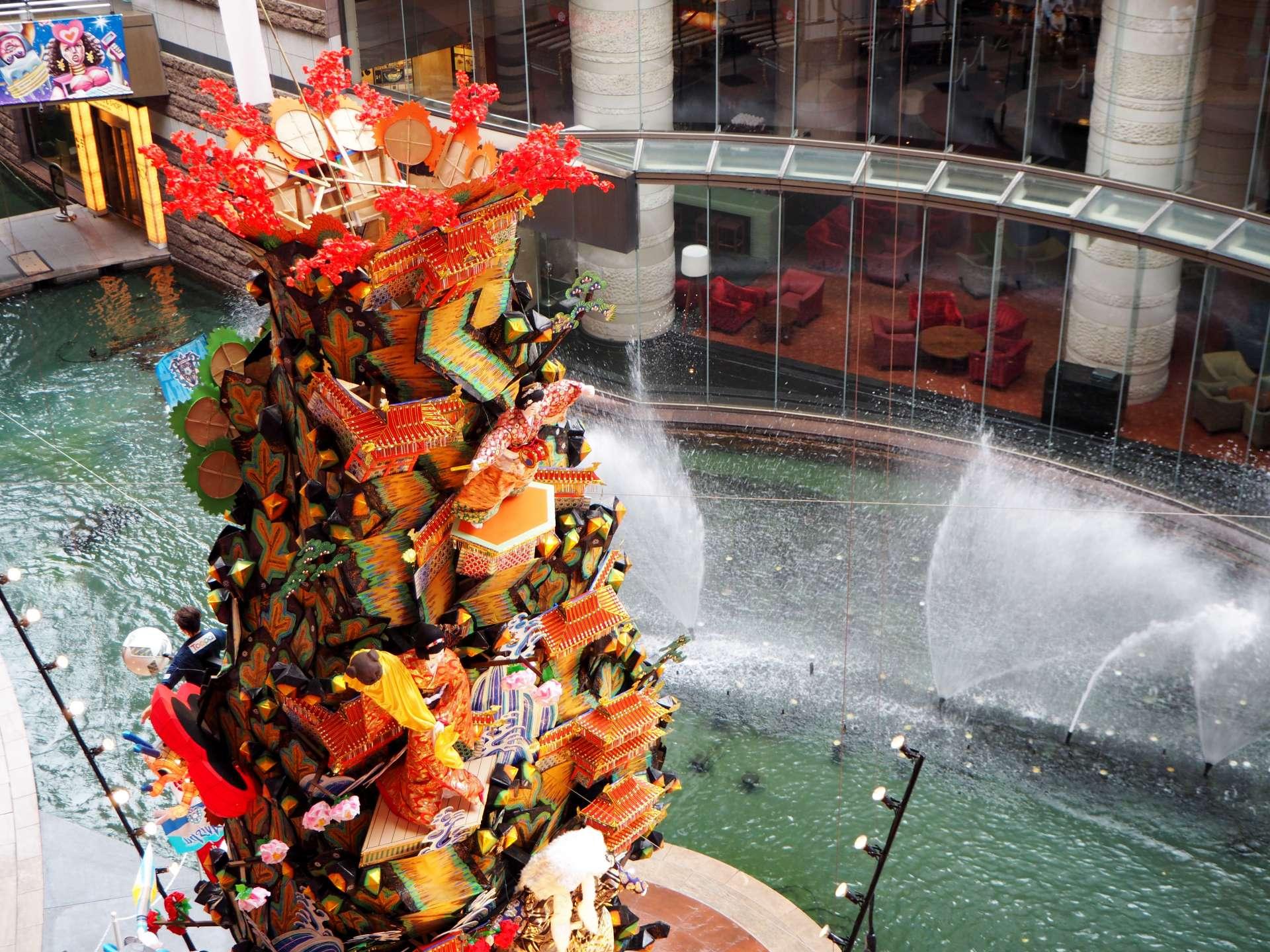博多运河城、商业设施、博多站、购物、餐厅、喷泉表演、运河