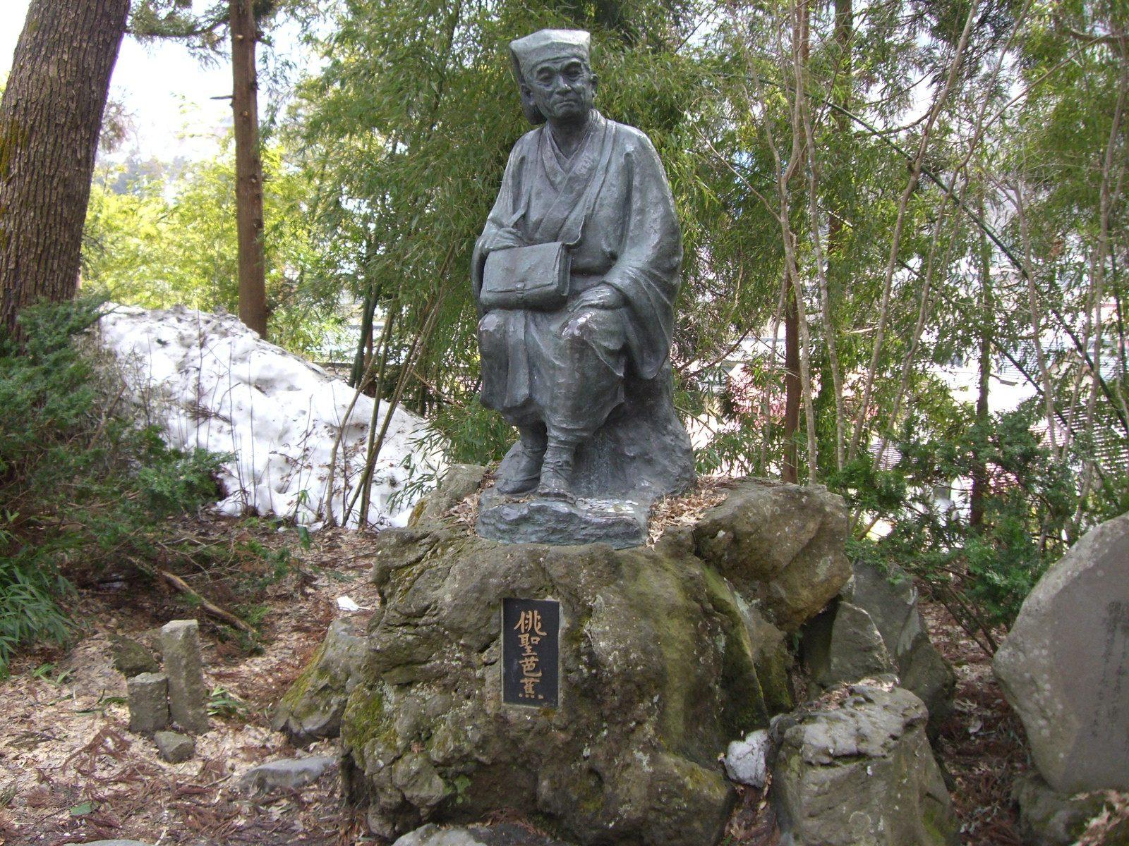 17世纪诗人・松尾芭蕉的铜像