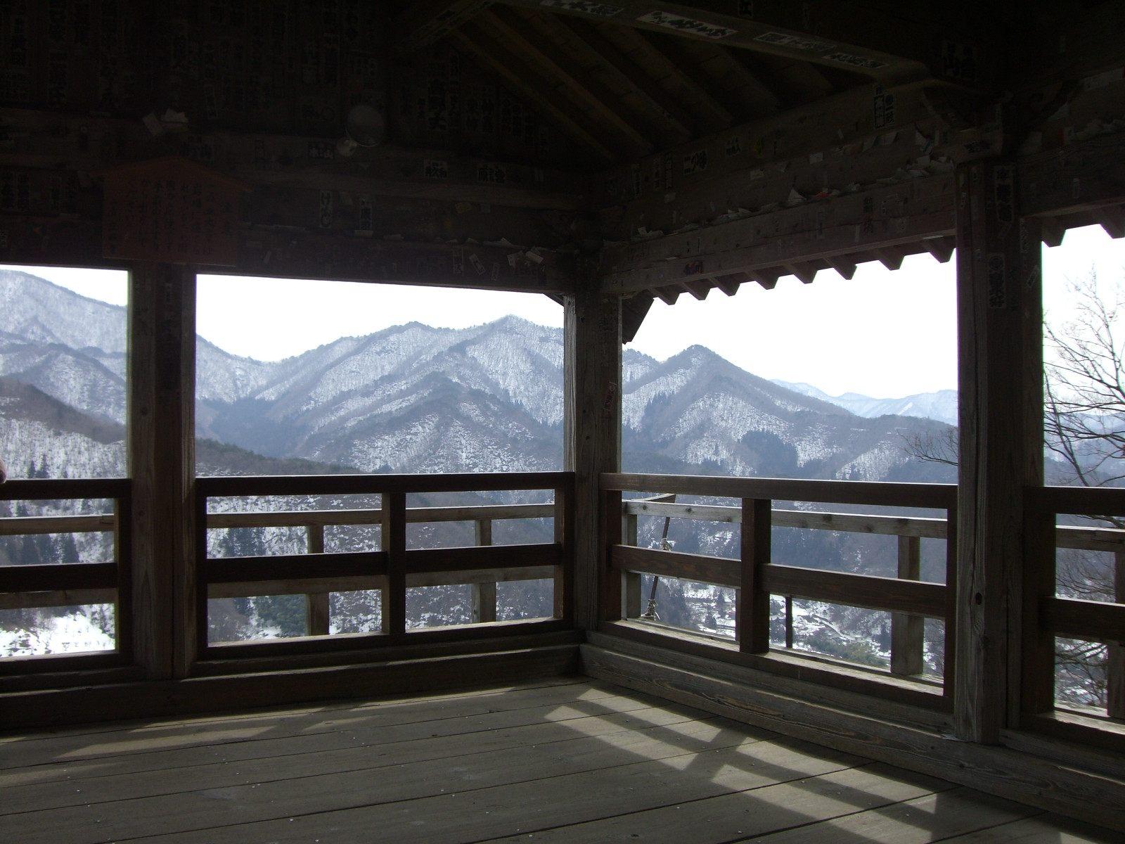 推荐从「五大堂」拍摄雪景