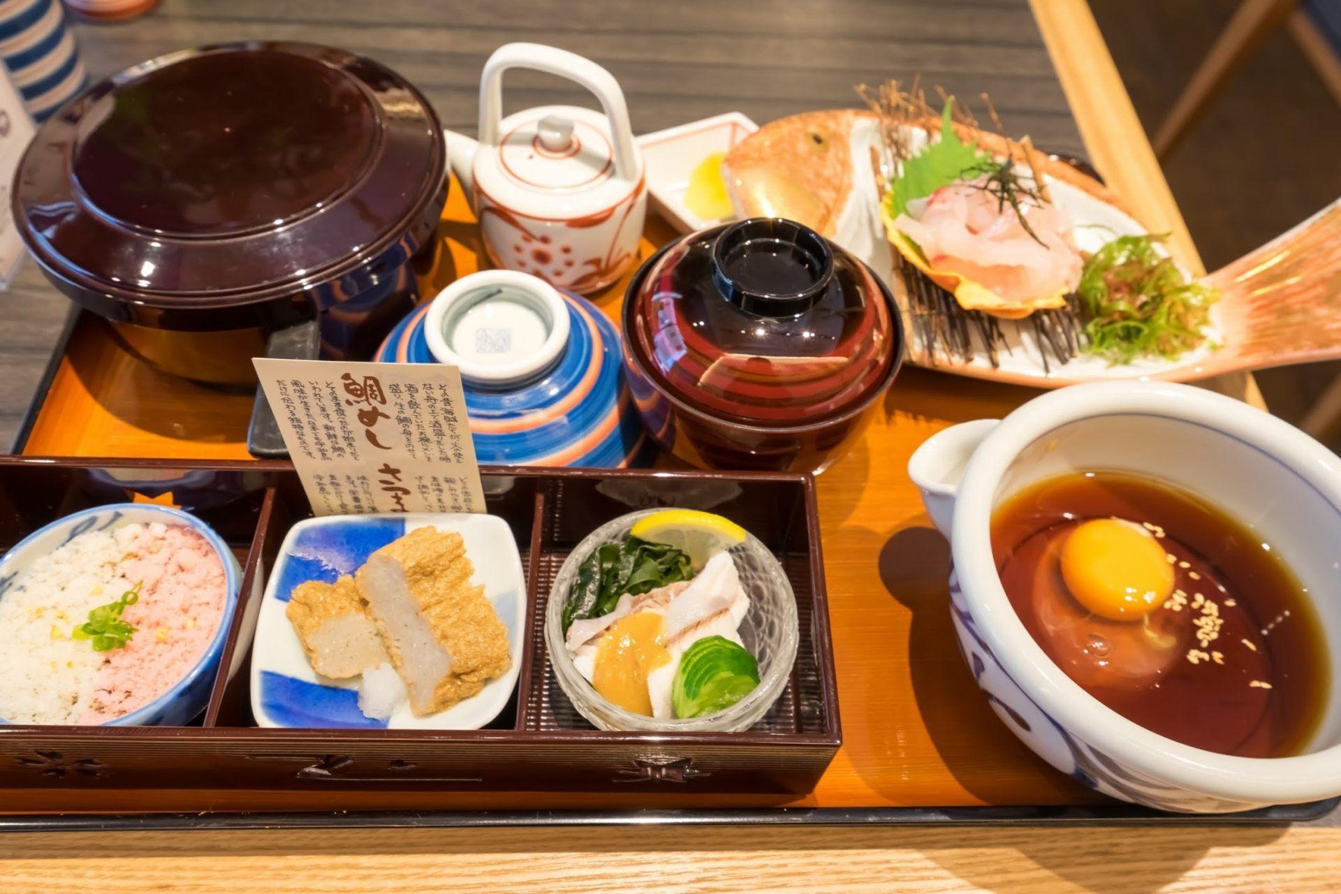 「宇和岛 鲷鱼饭膳」套餐,一份1980日圆 (含税)
