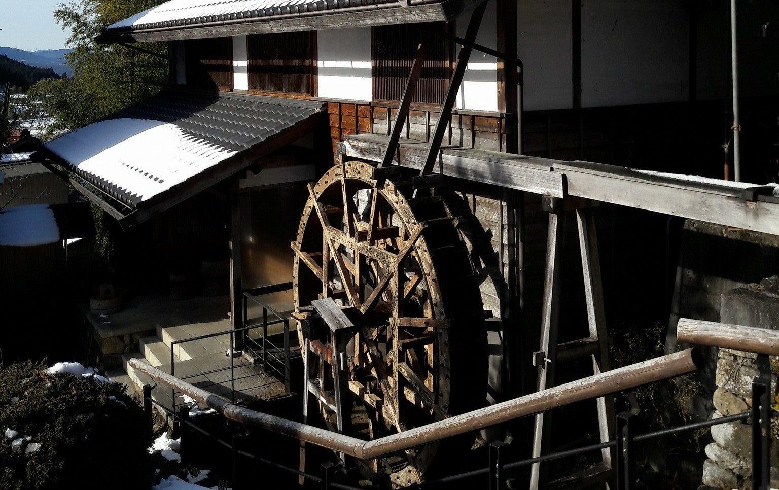 馬籠宿老街:大水車