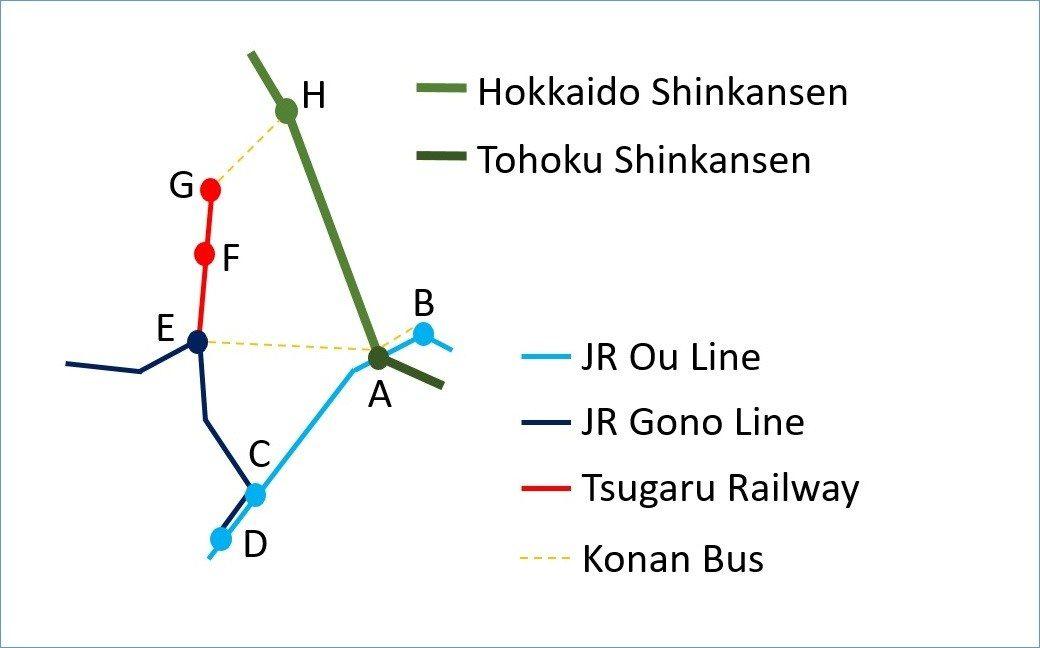 青森・弘前交通MAP