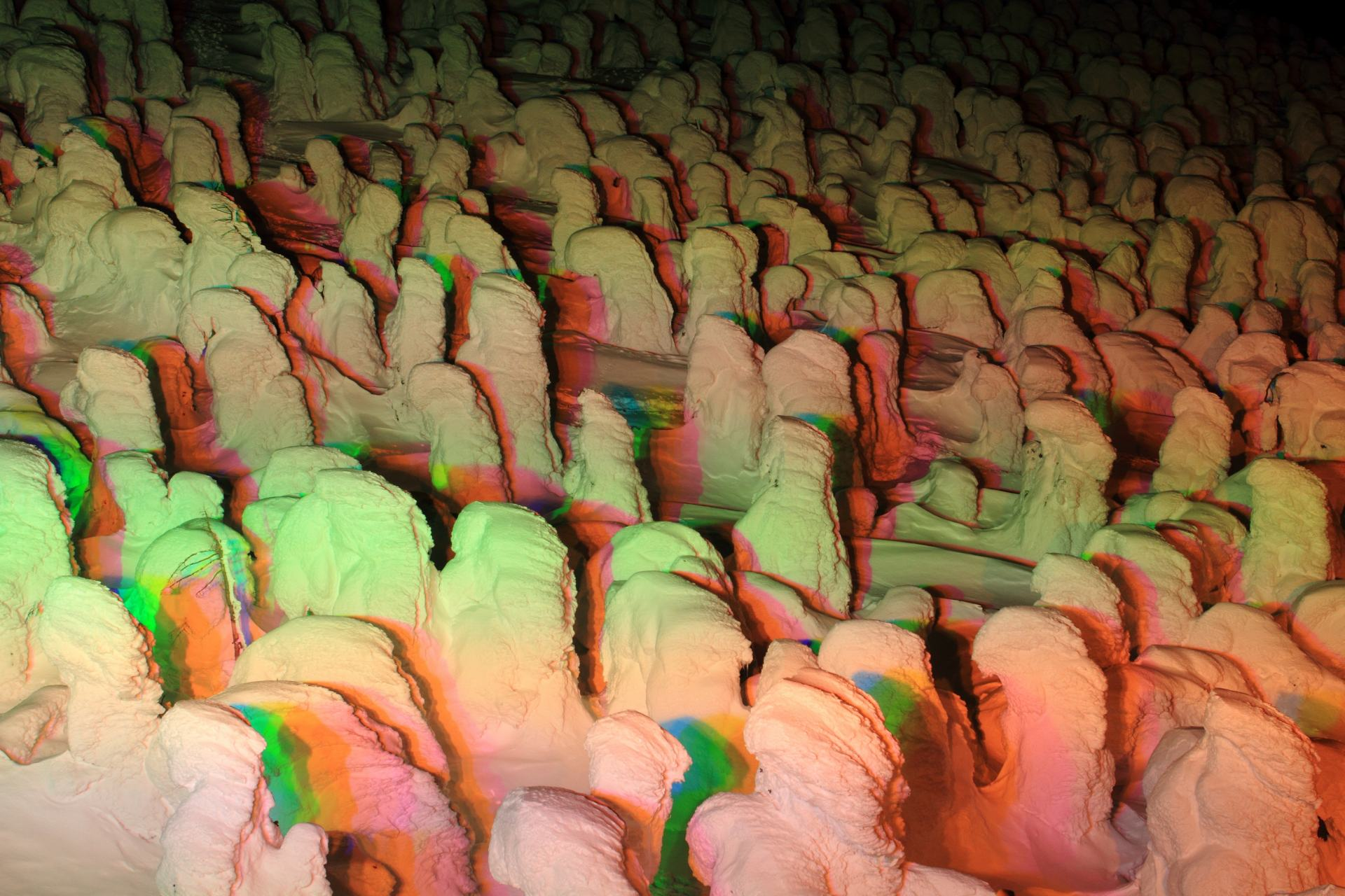 """The """"Zao Ice Monster Festival"""" at night"""