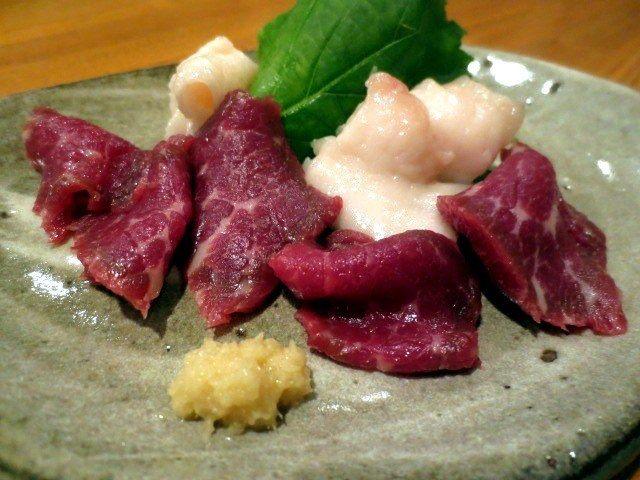 馬肉刺身拼盤(950日圓)