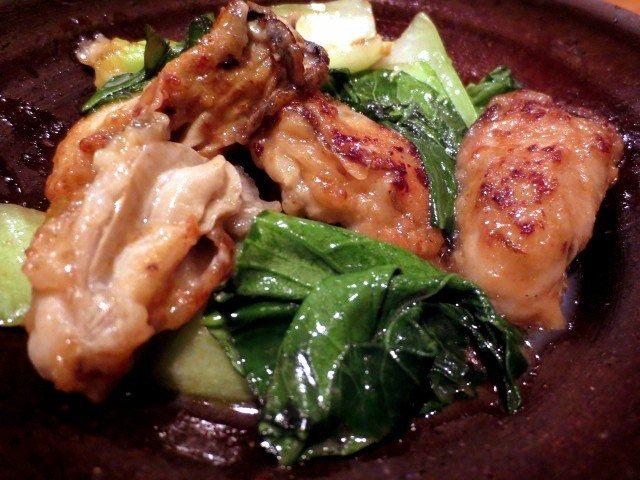 牡蛎青菜奶油炒(650日圆)