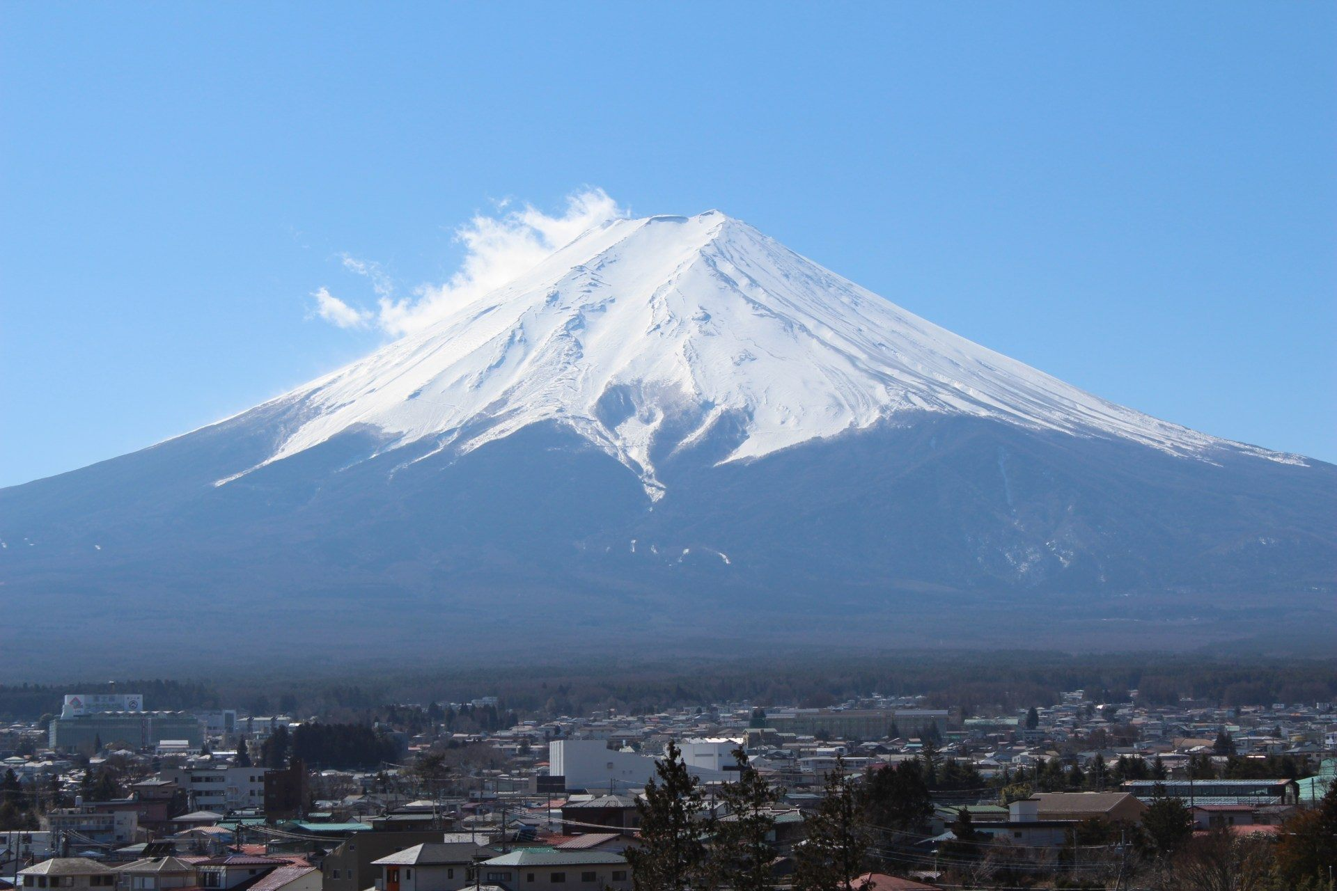 從新倉山淺間公園眺望美麗的富士山