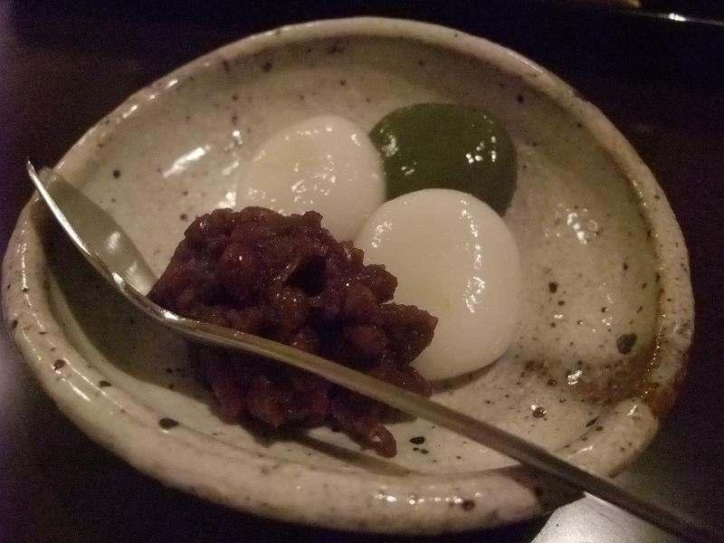 白玉团子和红豆的甜点