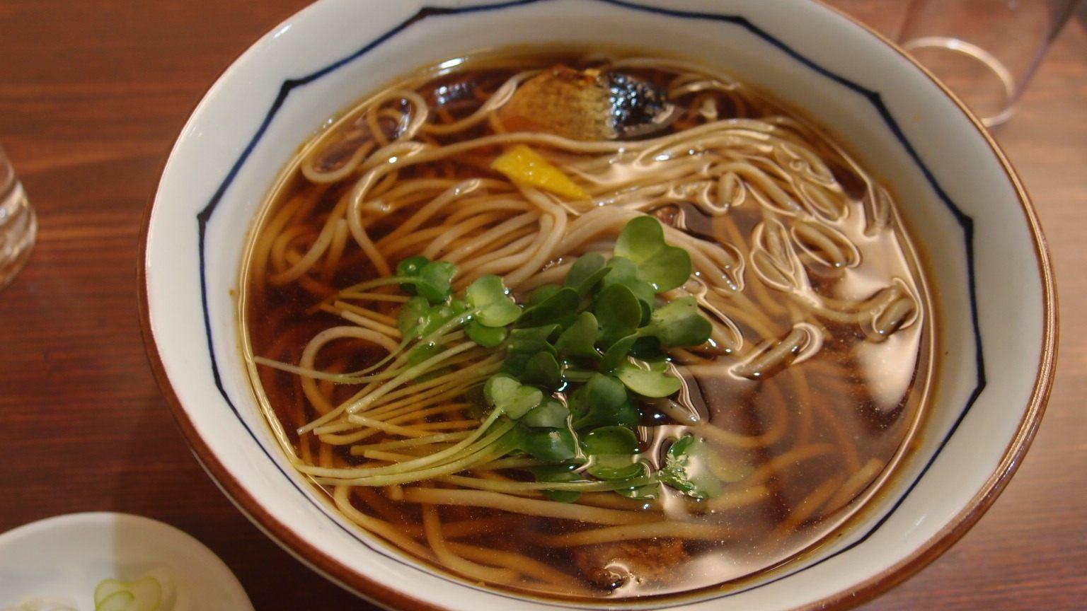 鲱鱼荞麦面(1100日圆)
