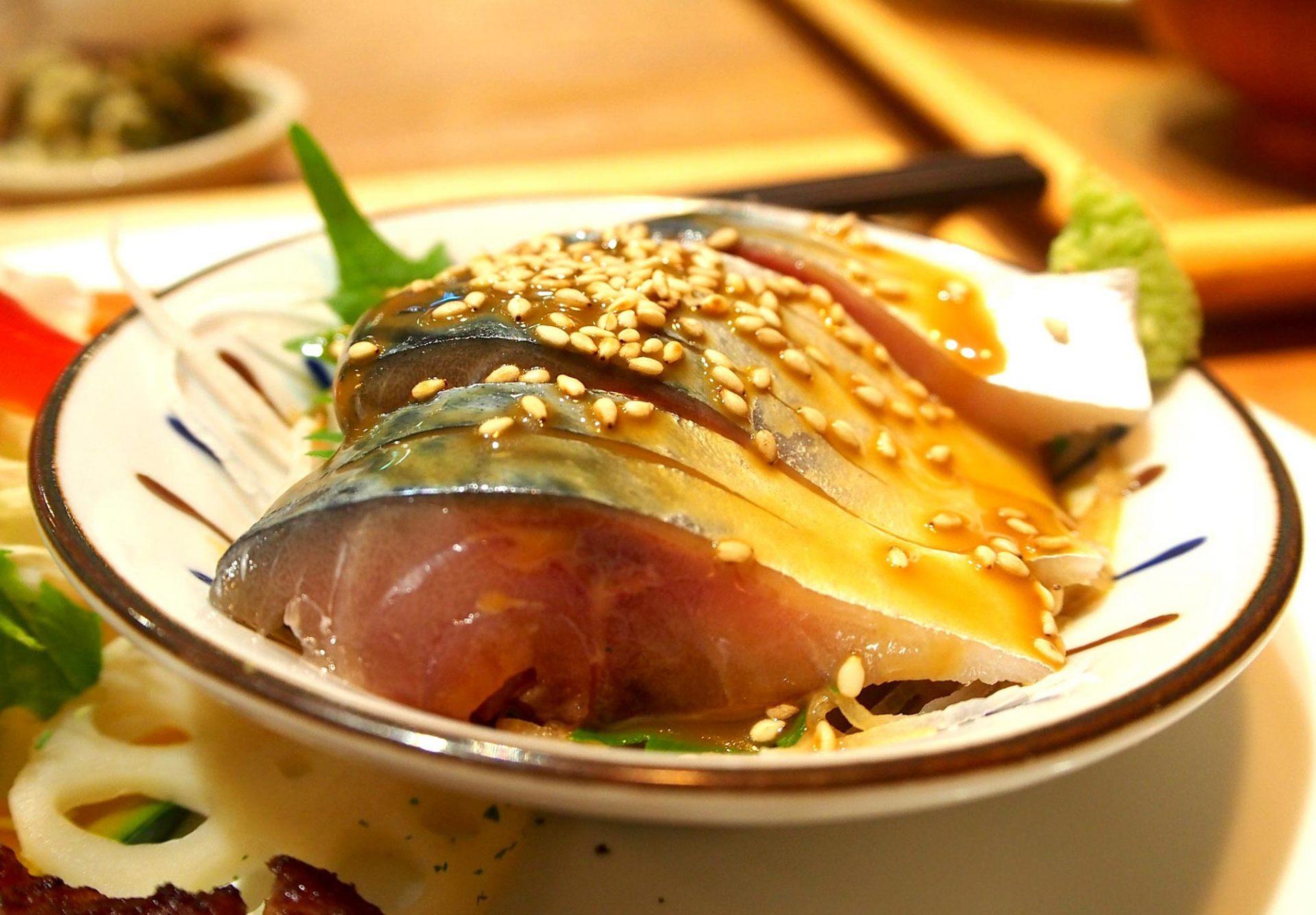 Sesame mackerel
