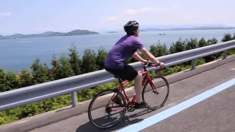 頗受歡迎的「島波海道」單車環遊