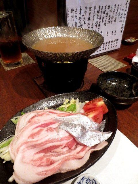 白帶魚和豬肉的涮涮鍋