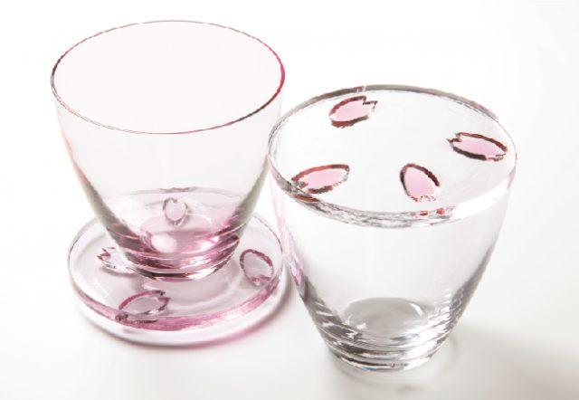樱花漫舞玻璃杯・杯垫