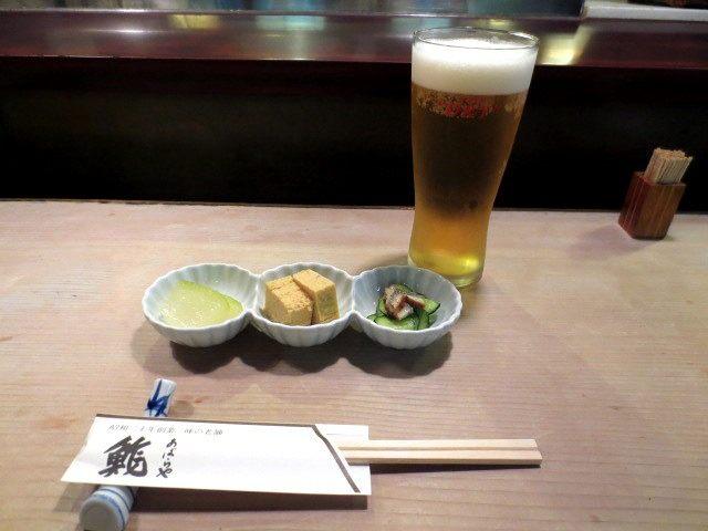 生啤酒和开胃菜3种